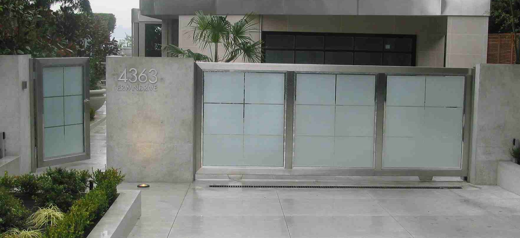Gates fences burrard mechanical for Stainless steel driveway gates designs